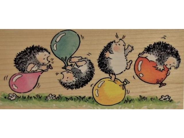 """Penny Black-Wood Mounted Rubber Stamp-""""Balloon Madness""""-2061K"""