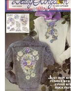 No Sew Fabric Applique Daisy Kingdom Pansies  No 6381 New   - $3.50