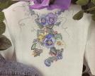 No Sew Fabric Applique Daisy Kingdom Pansies  No 6381 New