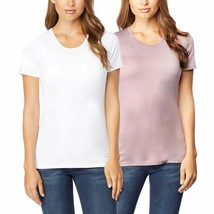 32 DEGREES Women 2 Pack Cool Scoop Neck Wicking Tee Shirt (White/Blush, ... - $24.99