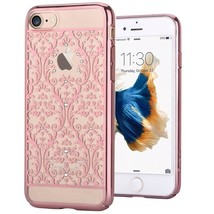 Devia Crystal Baroque Case  for iPhone 7 with Swarovski crystals pink gold - $38.48