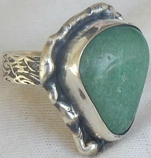 Green galss ring SR107