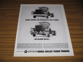 1963 Print Ad Dodge Builds Tough Trucks Warranted 5 Years or 50,000 Miles - $13.96