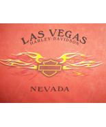 Harley-Davidson Motorcycles Las Vegas Nevada Orange Graphic T Shirt - L - $19.44