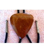 HAND CARVED WOOD BOLO W BRAIDED TIE & SILVERTON... - $26.43