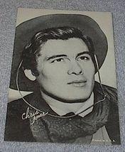 1960's Carnival Arcade Card Western Movie Star Chris Jones - $6.00