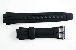 Genuine CASIO RUBBER WATCH BAND STRAP AQ-163W AQ-163WG AQ-160W Black - $12.75