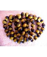 HYPNOTIC NATURAL TIGER EYE NECKLACE - KNOTTED SILK - $128.43