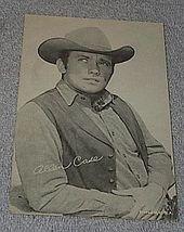1960's Carnival Arcade Card Western TV Star Allen Case The Deputy - $6.00