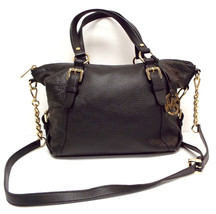 MICHAEL KORS Black Pebble Leather Satchel Shoul... - $139.00
