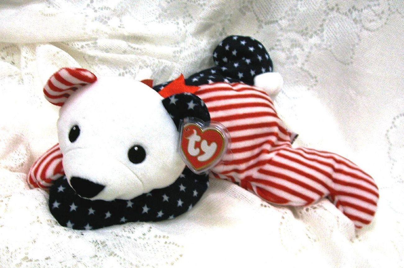 Pillow pals for bonanzle 022 sparkler stars   stripes bear