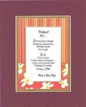 Poem for Friendship - Thinking of You Poem on 11 x 14 inches Double Beve... - $15.79