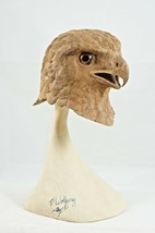 Exquisite Realistic Screaming Eagle Head and Stand Hand Carved TP Wolfgang - $479.40