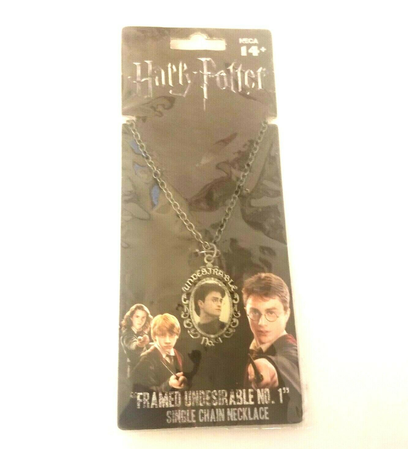 Harry Potter Framed Cameo Undesirable No. 1 Single Chain Necklace Silver Tone - $9.75