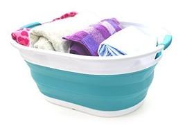 SAMMART Collapsible Plastic Laundry Basket - Oval Tub/Basket - Foldable ... - $38.07