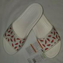 Crocs Women Sloane graphics Watermelon Slide Sandal Size 10 NEW White slip on - $29.45