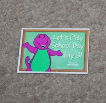 Barney Lets Play School Walmart Exclusive Promo Promotional Pin Button B... - $9.89