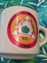 1975 EC-6A 3RD CONCLAVE BOY SCOUTS OF AMERICA COFFEE MUG GROWING IN BROT... - $8.50