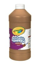 Crayola Tempera Washable Paint 32-Ounce Plastic Squeeze Bottle, Brown - $269,46 MXN