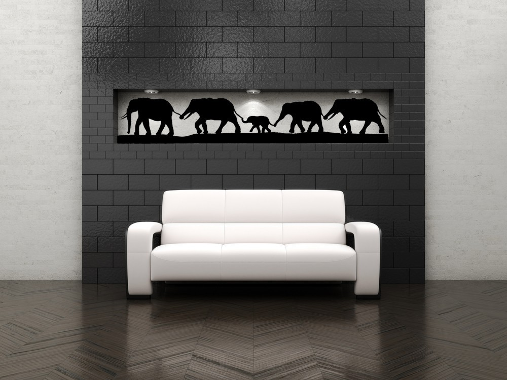 Elephant Family - Vinyl Wall Art Decal