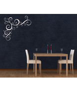Corner Swirl Flourish - Vinyl Wall Art Decal - $32.00