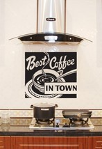Best Coffee In Town - Vinyl Wall Art Decal - $27.00