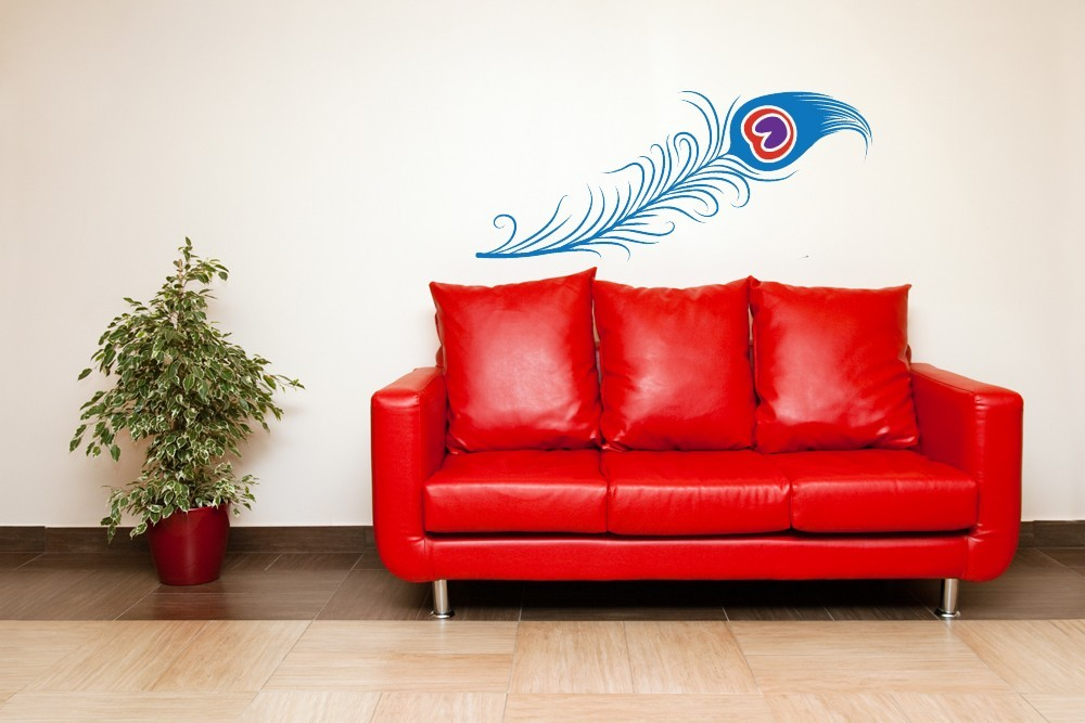 Primary image for Long Peacock Feather - Vinyl Wall Art Decal