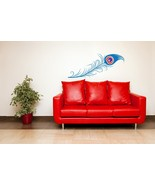 Long Peacock Feather - Vinyl Wall Art Decal - $55.00