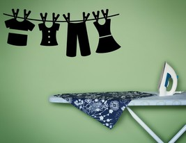 Laundry Hanging to Dry - Vinyl Wall Art Decal - $38.00