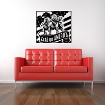 Let's Go America Retro Ad - Vinyl Wall Art Decal - $34.00