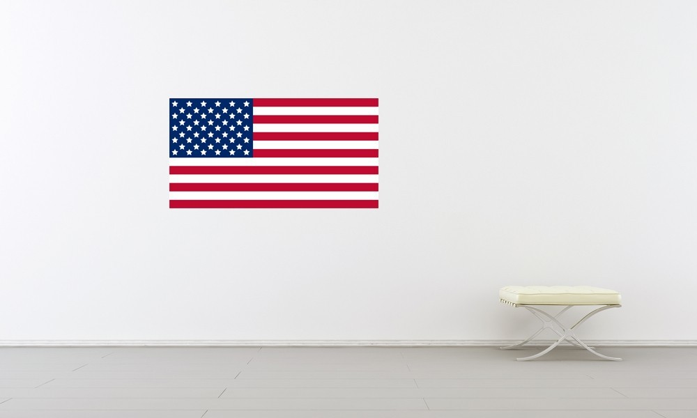 Old Glory American Flag - Vinyl Wall Art Decal