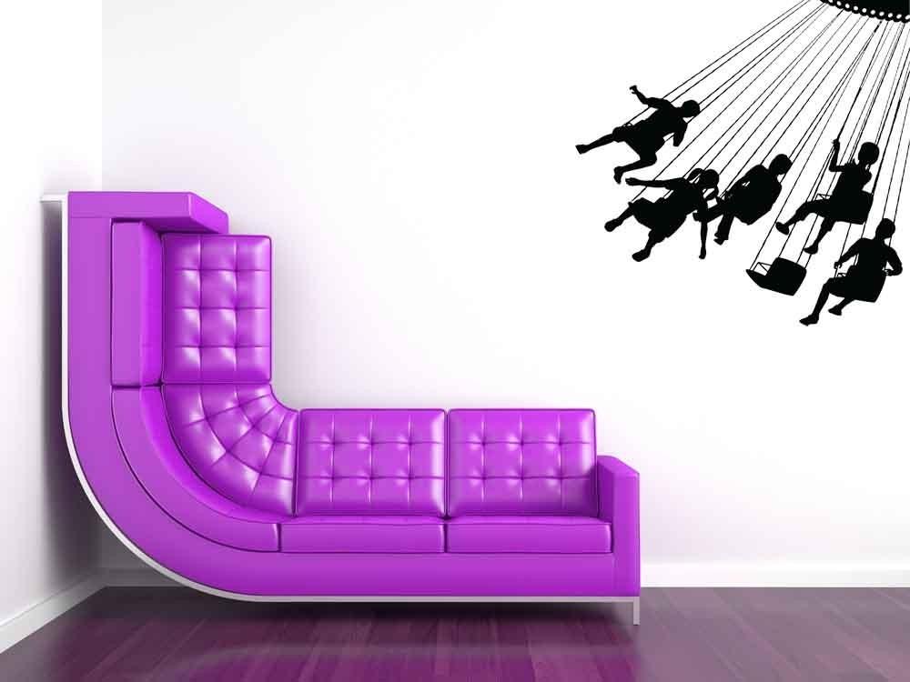 Swing Ride - Vinyl Wall Art  Decal