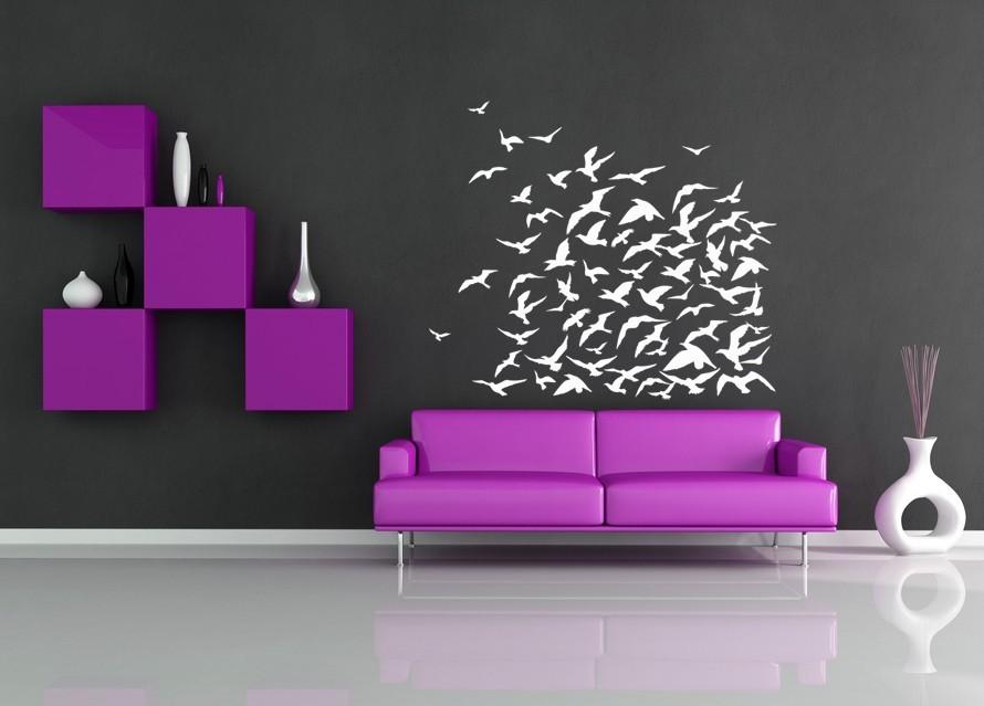 Flock of Birds - Vinyl Wall Art Decal