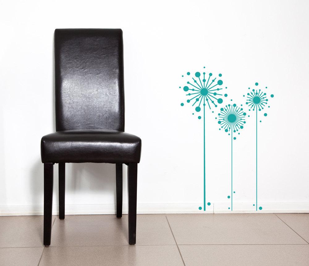 Abstract Dandelions - Vinyl Wall Art Decal