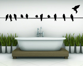 Wire with Birds - Vinyl Wall Art Decal - $32.00