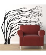 Winter Trees Blowing in the Wind - Vinyl Wall Art Decal - $66.00