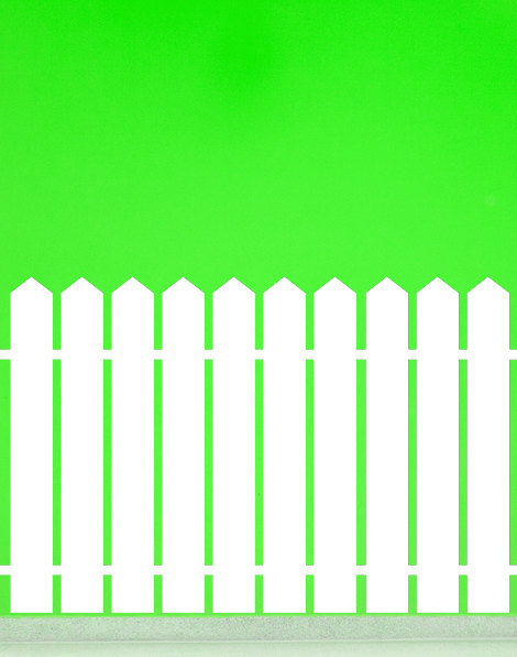 Picket Fence with Pointed Top - Vinyl Wall Art Decal