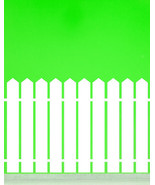 Picket Fence with Pointed Top - Vinyl Wall Art Decal - $8.00