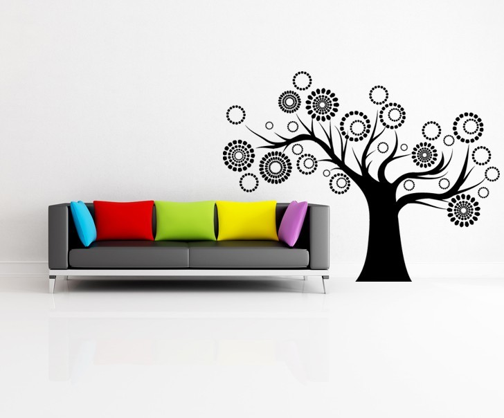 Blossoming Whimsical Tree - Vinyl Wall Art Decal