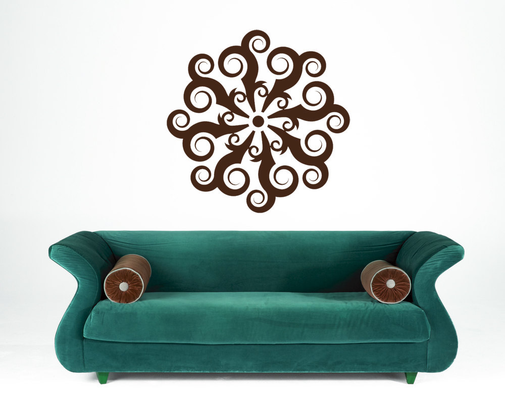 Primary image for Retro Medallion of Swirls -Vinyl Wall Art Decal
