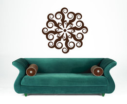 Retro Medallion of Swirls -Vinyl Wall Art Decal - $34.00