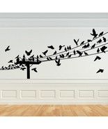 Birds on Power Lines - Vinyl Wall Art Decal - $46.00