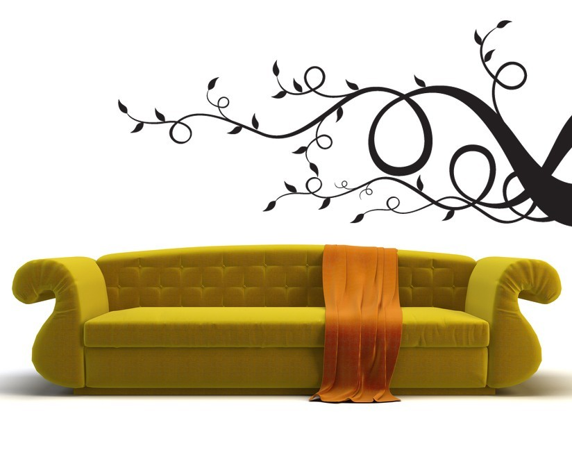 Whimsical Swirly Branch - Vinyl Wall Art Decal
