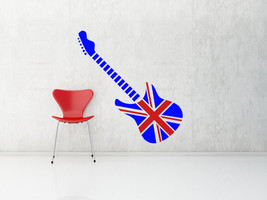 British Guitar - Vinyl Wall Art Decal - $48.00