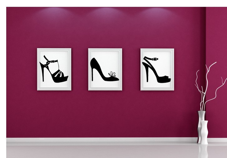 Primary image for High Heels (Lot of 3) - Vinyl Wall Art Decal