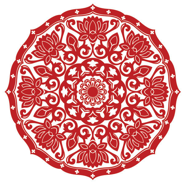 Ornamental Baroque Medallion - Vinyl Wall Art Decal