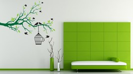 Fly Away Branch with Birds - Vinyl Wall Art Decal - $64.00