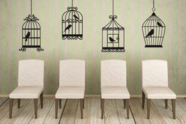 Set of 4 Bird Cages - Vinyl Wall Art Decals - $46.00