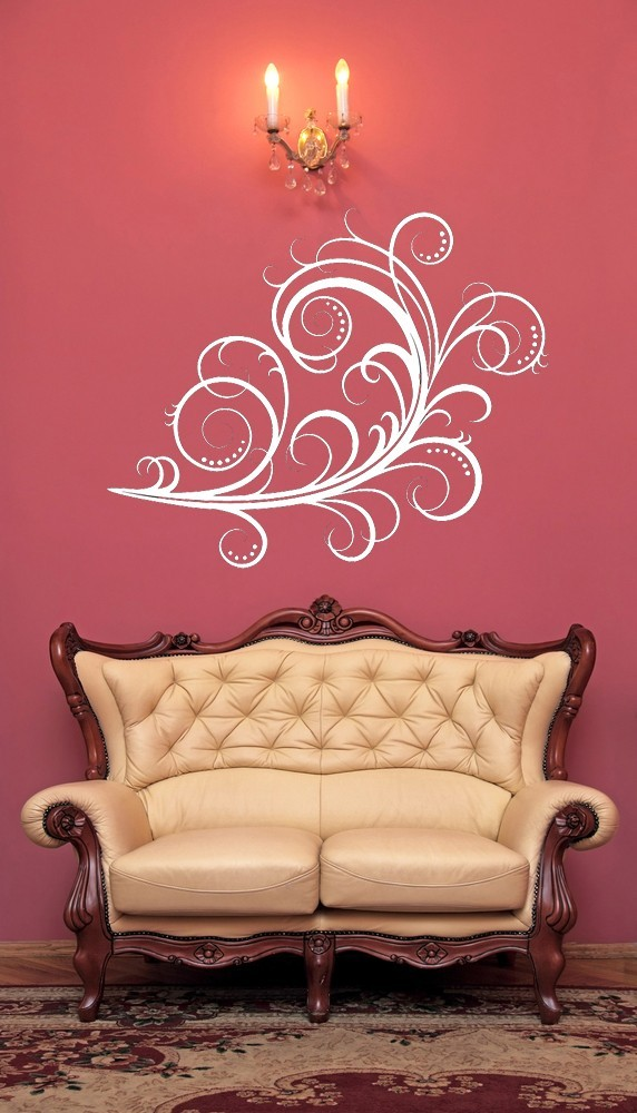 Lovely Feathery Flourish - Vinyl Wall Art Decal