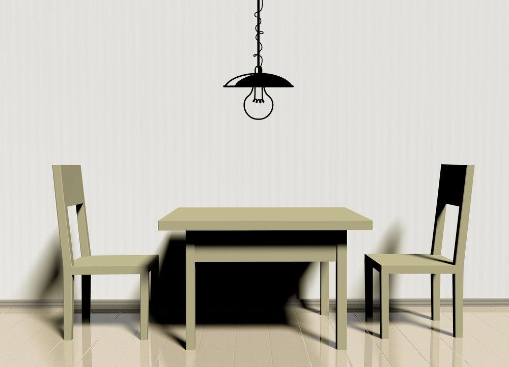 Hanging Light Fixture - Vinyl Wall Art Decal